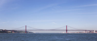 25 DE Abril Bridge Lisbon Royalty-vrije Stock Foto