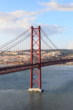 25 de Abril Bridge in Lisbon Royalty Free Stock Photos