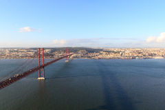 25 de Abril Bridge in Lisbon Royalty Free Stock Photo
