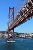 The25 de Abril Bridge in  Lisbon Stock Photo
