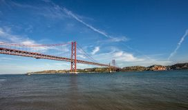 De abril bridge in lisbon portuga Stock Photography