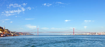 25 de Abril Bridge Lisbon Stock Images