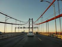 25 de Abril Bridge, Lisbona, Portogallo Fotografia Stock Libera da Diritti