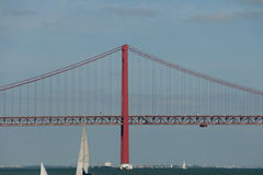 25 de Abril Bridge - Lisbona - Portogallo Immagine Stock