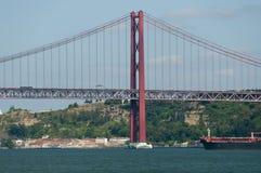 25 de Abril Bridge - Lisbona - Portogallo Fotografia Stock Libera da Diritti