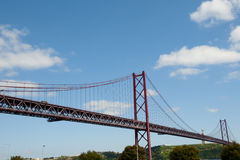 25 De Abril Bridge - Lisbonne - Portugal Photo libre de droits