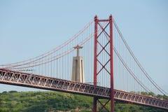 25 De Abril Bridge - Lisbonne - Portugal Images stock