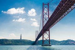 25 DE Abril Bridge Lissabon, Portugal Royalty-vrije Stock Foto