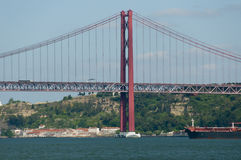 25 DE Abril Bridge - Lissabon - Portugal Royalty-vrije Stock Foto