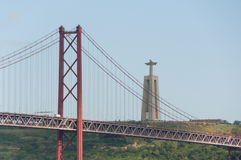 25 DE Abril Bridge - Lissabon - Portugal Stock Afbeelding
