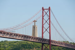 25 DE Abril Bridge - Lissabon - Portugal Stock Afbeeldingen