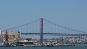 25 DE Abril Bridge in Portugal Stock Afbeeldingen