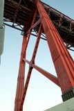 The 25 de Abril Bridge - Steel tower Royalty Free Stock Image