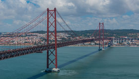 25 De Abril Bridge VI Lizenzfreies Stockfoto