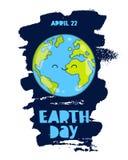 22 de abril - Día de la Tierra stock de ilustración