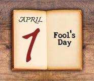 1 de abril día del ` s del tonto Imagen de archivo