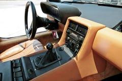 13 de abril de 2016 interior do carro do vintage de DeLorean em Banguecoque, Tailândia Imagens de Stock
