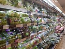 20 de abril de 2017 Kuala Lumpur Exposição do alimento em Jaya Grocer Supermarket imagem de stock royalty free