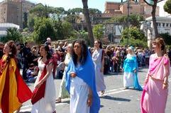 21 de abril de 2014, o aniversário de Roma Imagens de Stock