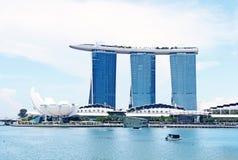 4 de abril de 2014 Singapura Opinião Marina Bay Sands em Singapura Fotografia de Stock Royalty Free