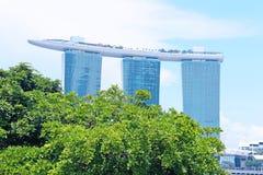 4 de abril de 2014 Singapura Opinião Marina Bay Sands em Singapura Foto de Stock