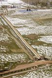 27 de abril de 2017 - MESA de HASTINGS cerca de RIDGWAY Y del TELURURO COLORADO - antena del invierno en Naturaleza, telururo Fotografía de archivo libre de regalías