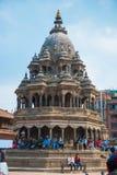 17 de abril de 2018 - Nepal:: Arquitetura velha no quadrado de Patan Durbar fotografia de stock