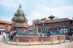 17 de abril de 2018 - Nepal:: Arquitetura velha no quadrado de Patan Durbar imagem de stock