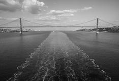 25 de abril ponte Imagem de Stock Royalty Free
