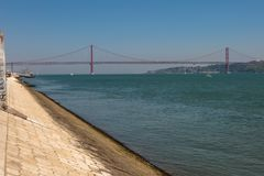 25 de abril ponte em Lisboa, Portugal Foto de Stock