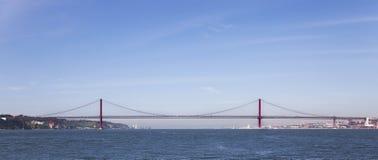 25 De Abril Przerzucający most Lisbon Zdjęcie Royalty Free