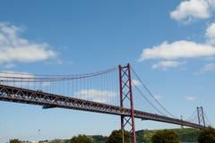 25 De Abril Przerzucający most, Lisbon, Portugalia - Zdjęcie Royalty Free