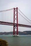 25 De Abril Przerzucający most, Lisbon, Portugalia Fotografia Stock