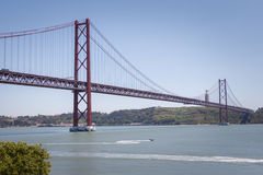 25 de Abril Suspension Bridge, Lisbon, Portugal Royalty Free Stock Photos