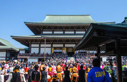 13 de abril 2014: Taiko Matsuri At Nara Temple Foto de Stock