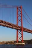 25 De Abrile Przerzucający most Fotografia Royalty Free