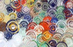 De abstracte achtergrond & het Behang van de kunstwerveling kleurrijke Stock Fotografie