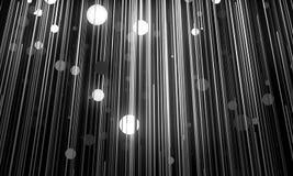 De abstracte achtergrond imiteert hangende lampen op draden 3d illus vector illustratie