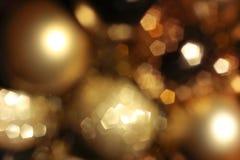 De abstracte achtergrond met blured lichten Stock Foto