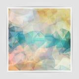 De abstracte achtergrond met pastelkleur kleurde Driehoekige Polygo Stock Foto's