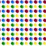 De abstracte achtergrond is plonsen van een multi-colored waterverfdalingen De vlekken liggen precies op een rij en kolommen Geel vector illustratie
