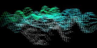 De abstracte achtergrond van de analyse infographic kleur 3d algoritmen van de diagramanalyse Grote Gegevens Vector illustratie stock afbeelding