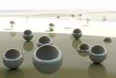 De abstracte Achtergrond van Ballen Stock Afbeelding