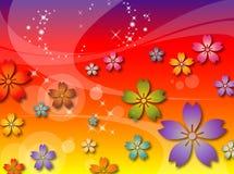 De abstracte Achtergrond van Bloemen Vector Illustratie