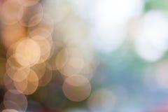 De abstracte achtergrond van bokeh zachte lichten Royalty-vrije Stock Afbeeldingen