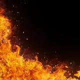 De abstracte achtergrond van brandvlammen Royalty-vrije Stock Foto's