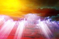 De abstracte achtergrond van chaoswolken Stock Afbeeldingen