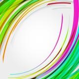 De abstracte achtergrond van cirkelslijnen voor uw tekst. Stock Foto