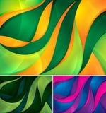 De abstracte achtergrond van Curvy stock illustratie