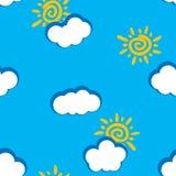 De abstracte achtergrond van dagwolken. Naadloos. Royalty-vrije Stock Foto's